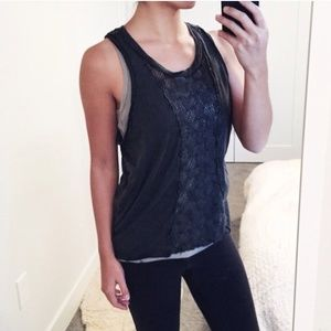 Free people gray woven tank