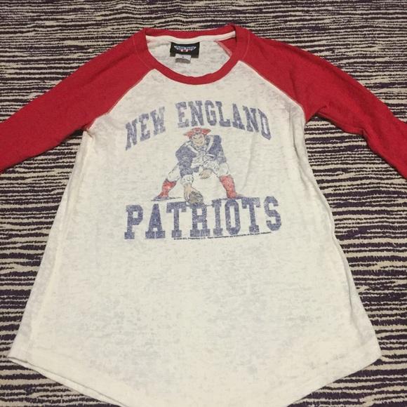Junk Food Clothing Tops - New England Patriots Baseball Tee 290ca2f00