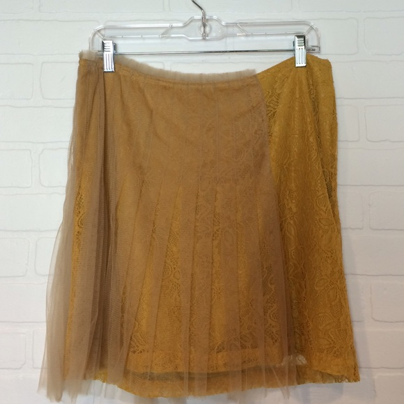 Rodarte for Target Skirts - Rodarte for Target lace + tulle skirt in mustard