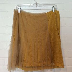Rodarte for Target Skirts - Rodarte for Target lace + tulle skirt in mustard