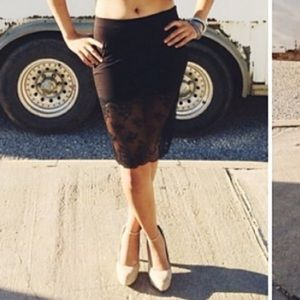 Lace pencil skirt!