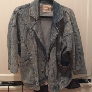 "Forever 21 oversized vintage style ""denim"" jacket"