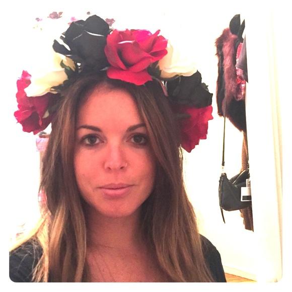 handmade flower crown perfect for halloween