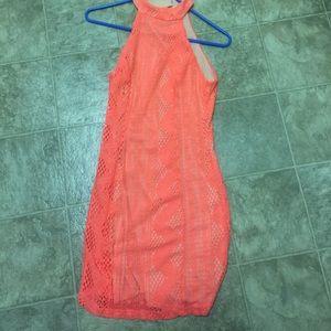 Dresses & Skirts - Neon orange mini dress