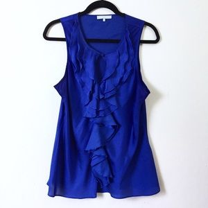 Violet & Claire Tops - Violet & Claire sleeveless ruffled blouse.