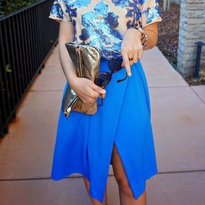 ASOS Dresses & Skirts - Asos Blue Midi Skirt