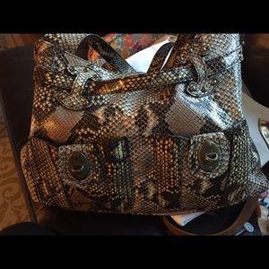 Handbags - Jessica Simpon Python Print Hobo Bag