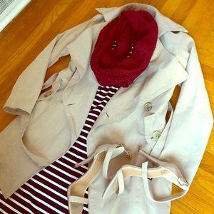 Jackets & Blazers - Khaki Trench Jacket