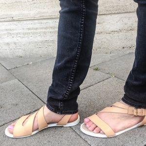 ZARA Leather Strappy Sandals