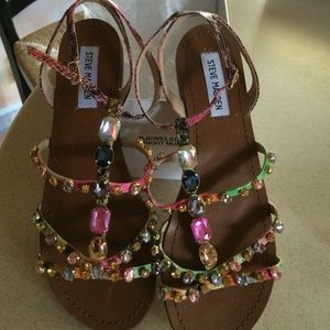c88f7d041dae5 Gorgeous Steve Madden jeweled strappy sandals ...