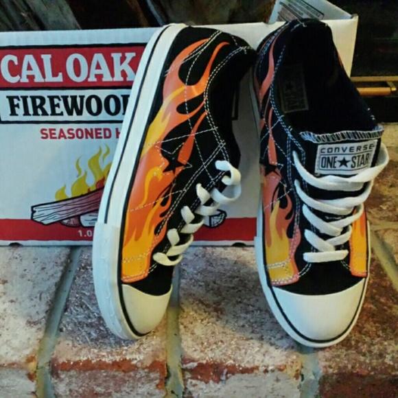 86711367da5f21 Converse Shoes - 🔥Converse Fire Flames Low Top Sneakers