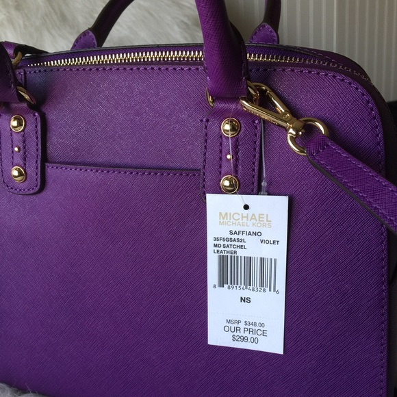99% off Michael Kors Handbags - TRADR Kris_1620 MK purple satchel ...