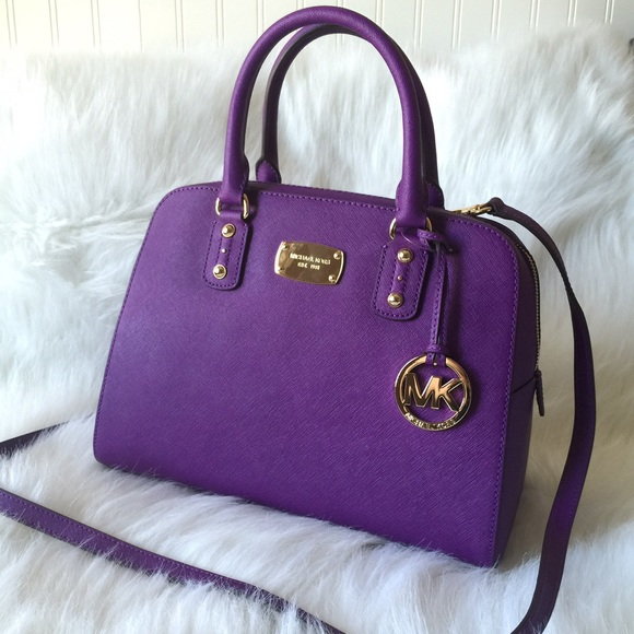 TRADR Kris 1620 MK purple satchel handbag e4253fba35db9