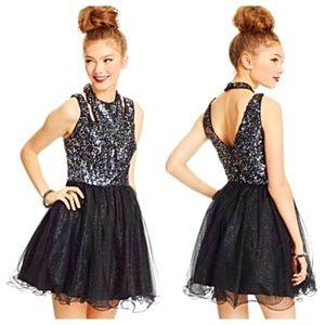 Hailey Logan Sequin Tulle Skater Dress