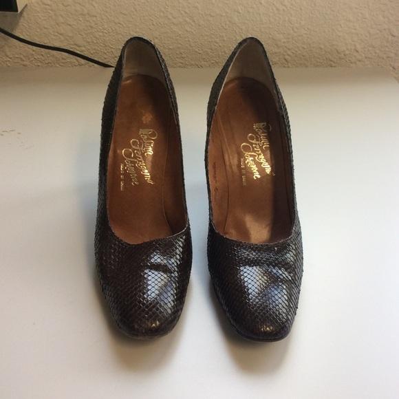 bd4cbb2dc537a Rosina Ferragamo Schiavone Faux Snakeskin Heels
