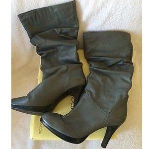 Cathy Jean Gray Scrunch Shaft High Heel Boots