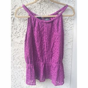 Purple Nicole Miller top