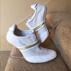 Yohji Yamamoto Shoes - Y3 leather wedge gym shoes