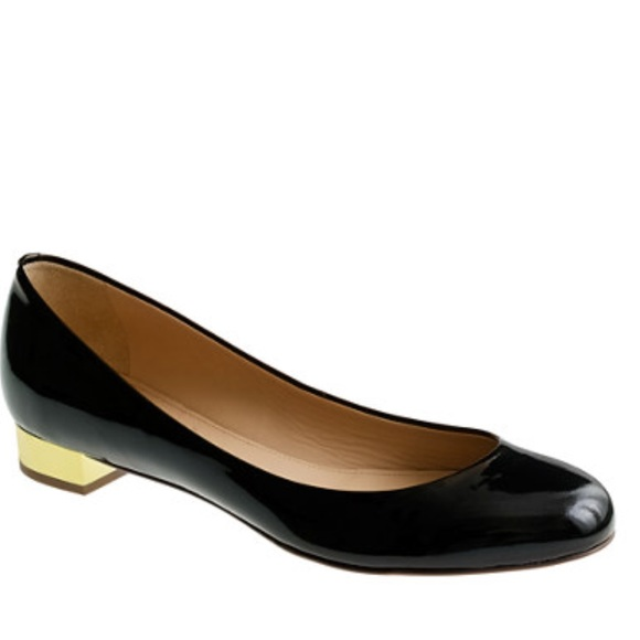 75% off J. Crew Shoes - Jcrew Janey Gold Heel Flats 7.5 from