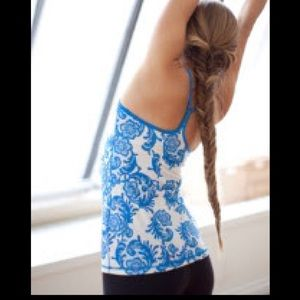 lululemon Power Y Tank-laceoflage blue pattern