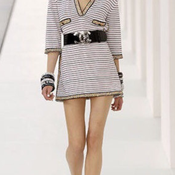 79% off CHANEL Dresses & Skirts - Chanel Tunic Sweater Dress from ...