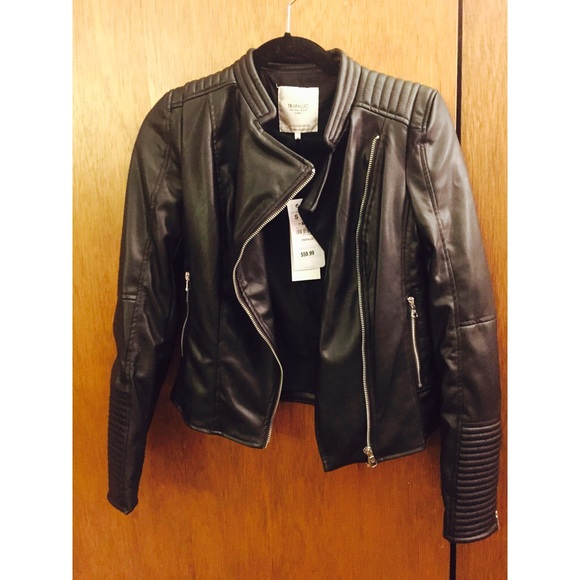 67cfc885 Zara Jackets & Coats | Nwt Trafaluc Faux Leather Jacket | Poshmark