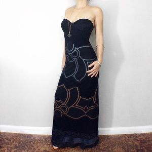  Strapless Custo Barcelona Maxi Gown Dress  2