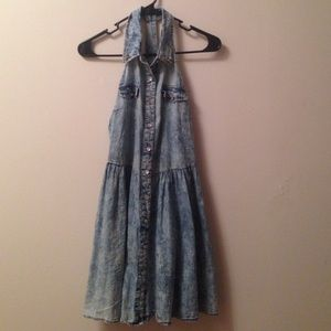 Studded Jean skater dress