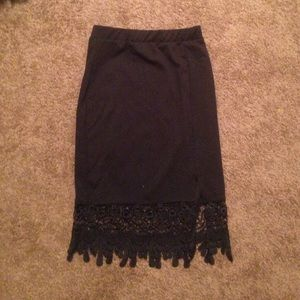 Black skirt with bottom detail