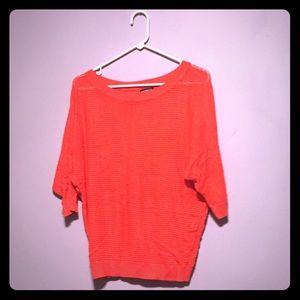 Mesh Sweater - Bright Orange