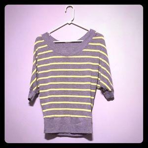 Tops - Dolman Sleeve Sweater - Yellow