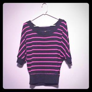 Tops - Dolman Sleeve Sweater - Pink