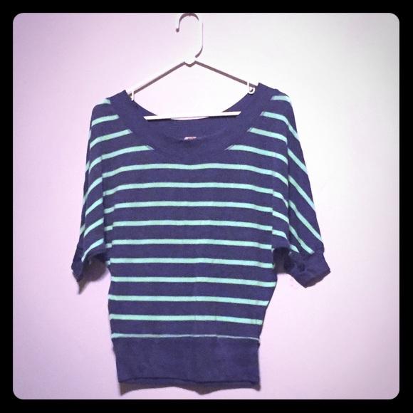 Tops - Dolman Sleeve Sweater - Green