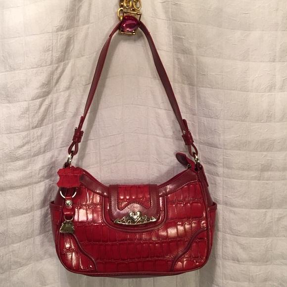 2ec43a64f869 MC Red handbag simulated alligator New. M 562580b8d14d7bbde8004159