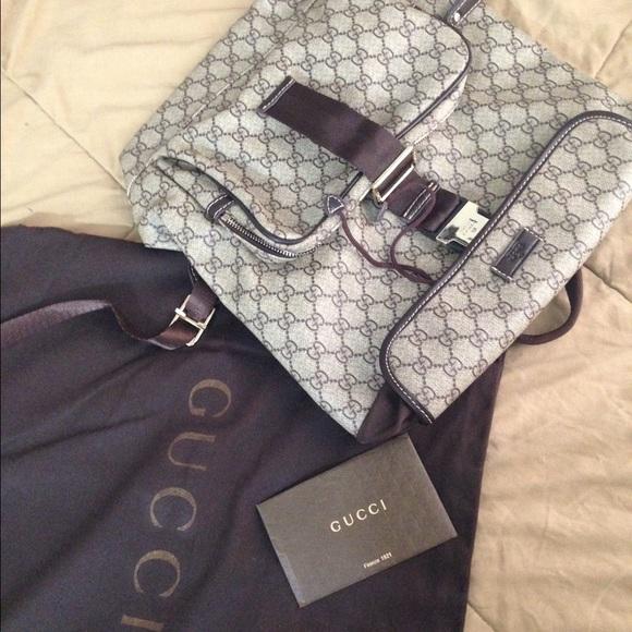 dbec8da52996 Gucci Bags   Gg Plus Flap Top Backpack   Poshmark