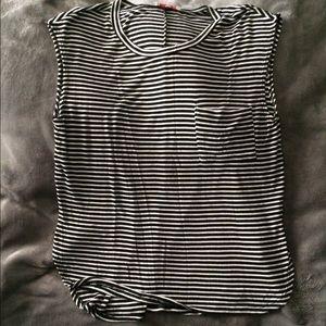 Black-and-white shirt
