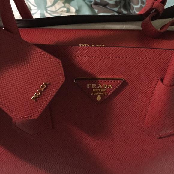 Prada - Prada saffiano cuir double bag SOLD!!!! from Jojo\u0026#39;s closet ...