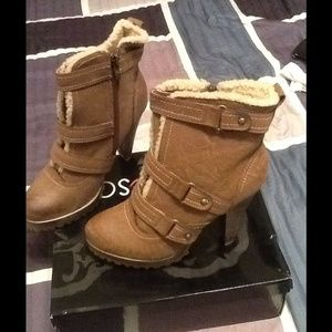 Heart & Soul ankle boots with inside lining!