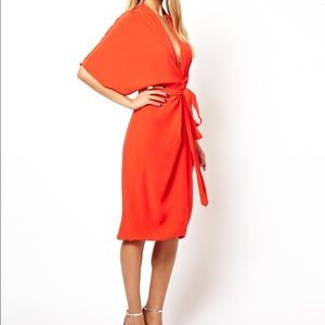 ASOS Dresses - Midi Dress with Obi Belt
