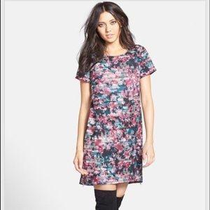 Wayf Crepe Print Shift Dress