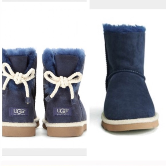 19d699831ab UGG authentic Selene rope bow boots sz 6 new NWT