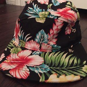 Five panel floral hat