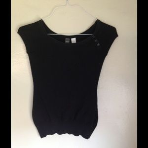 Black Sweater Top Size Small