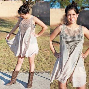 Boutique Crochet Tunic Dress