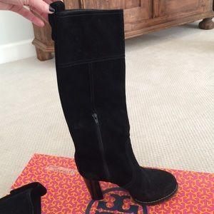 5ac144bd6e38 Tory Burch Shoes - Tory Burch Claudia Boot. Black Suede. Size 8M