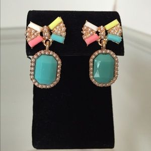 NEW! Turquoise Bow Dangle Earrings