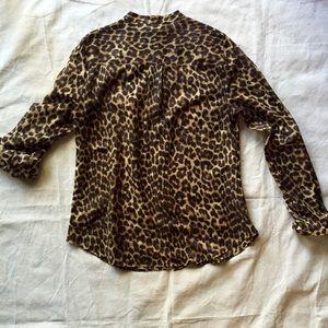Ann Taylor Tops - Ann Taylor Leopard Safari Style Blouse Size 12