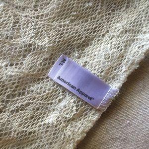 American Apparel Tops - American Apparel Lace Top Size M/L