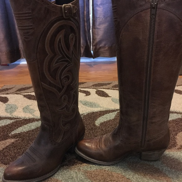 54% off Ariat Shoes - Ariat wanderlust wide-calf cowgirl boot from ...