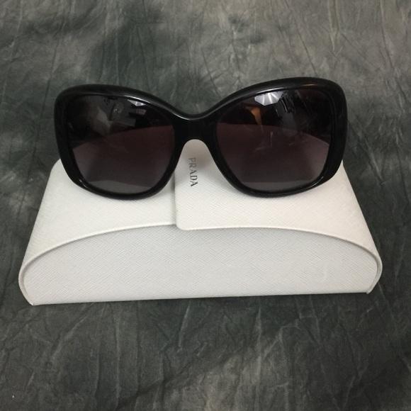a08247d28c5 Prada black sunglasses